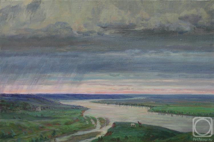 Loukianov Victor. The thunderstorm leaves