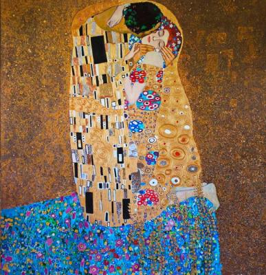 "Copy of a picture of G. Klimt ""Kiss"""
