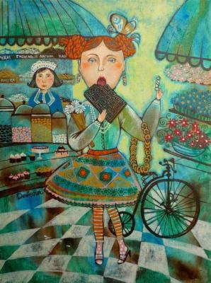Girl in a candy store. Denisova Daria
