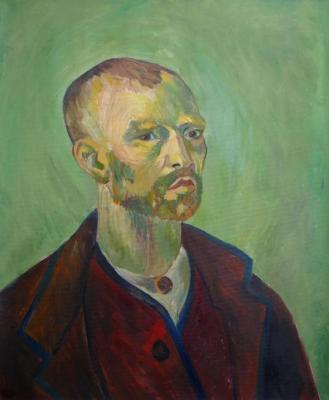 Self-Portrait. Vincent Van Gogh (copy). Denisova Daria