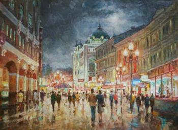 Razzhivin Igor. Walk in the evening Arbat