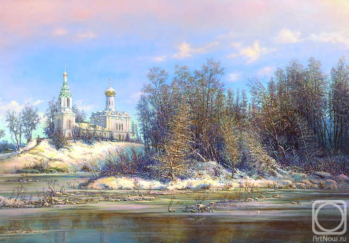 Panin Sergey. The temple by the river