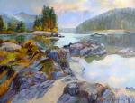 Berezina Elena. Autumn on the river Katun