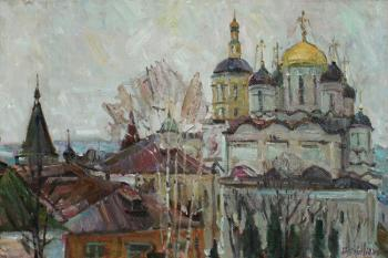 Gray day at the St. Paphnutius of Borovsk Monastery. Zhukova Juliya