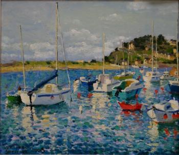 Shevchuk Svetlana. Barneville Carteret. Yachts at high tide