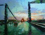 Москва. Крымский мост. Дождь.