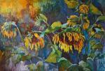 Avdeev Sergey. Sunflowers after rain