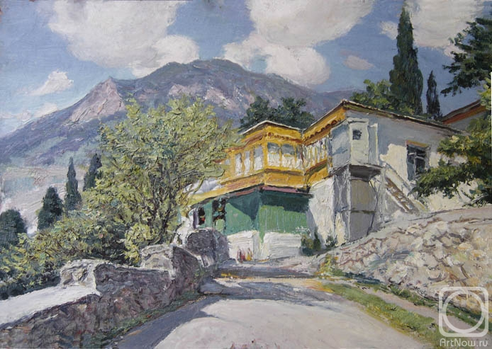 Petrov Vladimir. Gurzuf. The house with a yellow verandah""