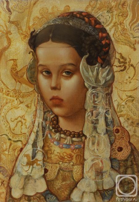 Назаров Андрей. Портрет в старинном убранстве