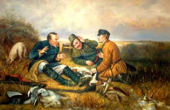 Smorodinov Ruslan. Hunters at Rest. copy V.Perov