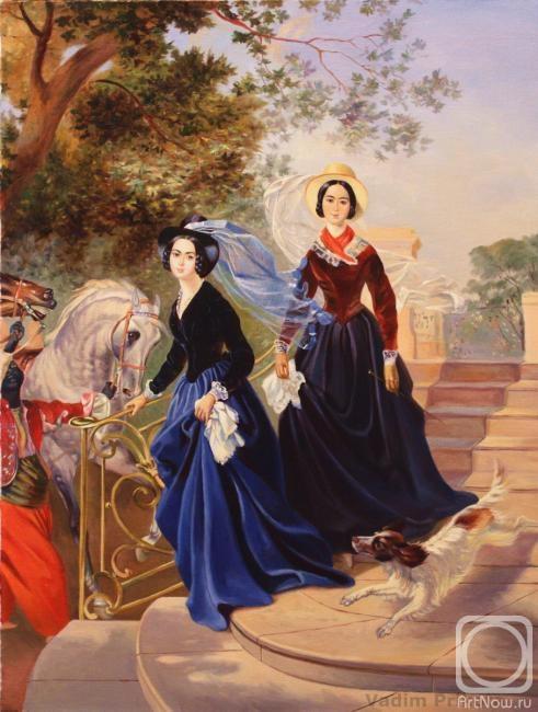 Индивидуальный и парный портрет виже-лебрен портрет графини скавронской к п брюллов портрет сестер шишмаревых