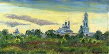 Kashina Eugeniya. The Evening Bells. View of the Nikitsky Monastery. Pereslavl