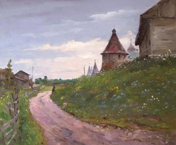 Alexandrovsky Alexander. Road to temple. Solovki. Summer