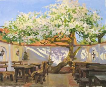 Breakfast near an old apple tree. Kharchenko Victoria