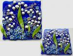 "Fusing panel ""Forest coolness 2"" fused glass"