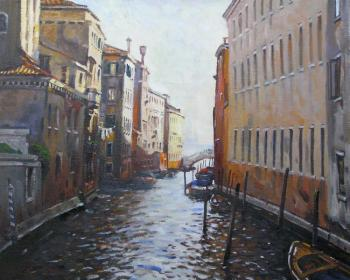 Ershov Vladimir. Er 1352 :: Channel in a evening (Venice, Italy)