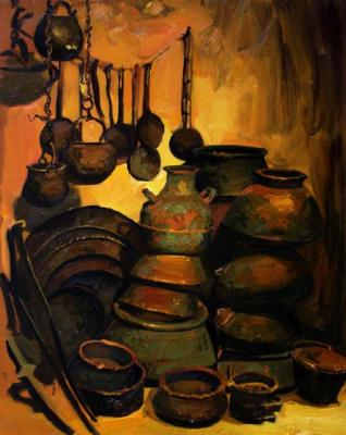 Copper utensils in a smithy. Kosivtsov Dmitriy