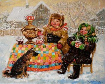 Simonova Olga. Tea drinking in Russian