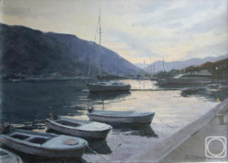 Rubinsky Pavel. Evening in the Bay of Kotor