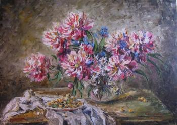 Peonies and Cherry. Kruglova Svetlana