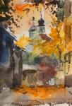 Осенний вечер в Серебряническом переулке