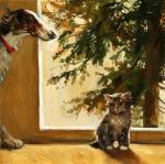 Собака и котёнок