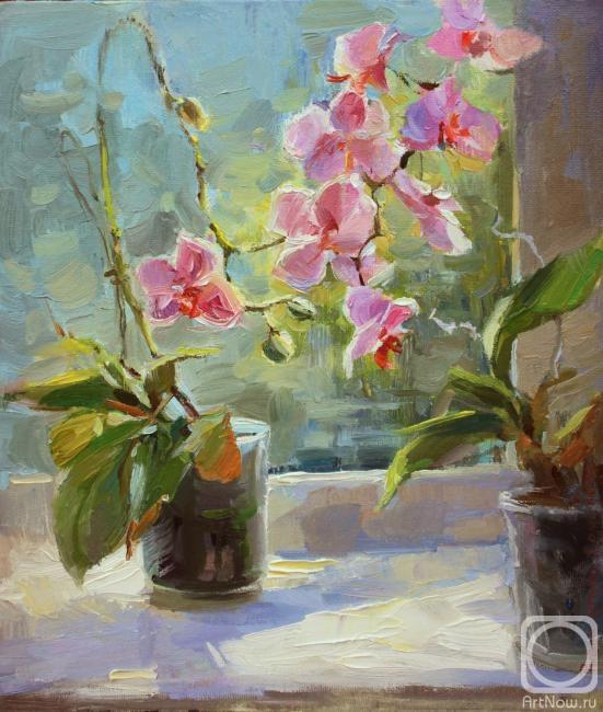 Paint Window Sill Interior: Painting «Flowers On The Windowsill»