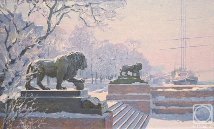 Лазарева Мария. Адмиралтейская Набережная морозной зимой