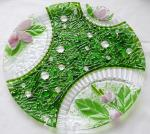 "Big celebratory dish ""Pleasant memories"" fusing glass"
