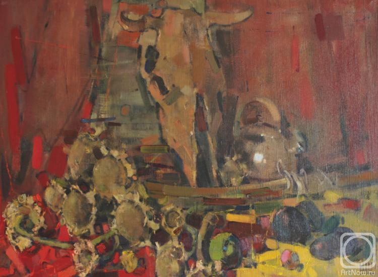 Shcherbakov Igor. Still life with cow skull