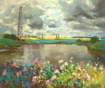 Mishagin Andrey. Landscape with a tower