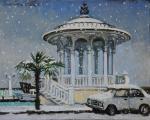Rotunda in port. Winter. Simonova Olga