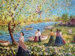 Рязанова Инна. Весна в Рыбинском заручье