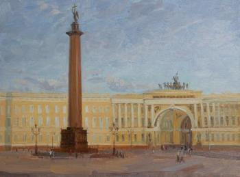 Evening etude of the Dvortsovaya (palace) Square. Kanashova Natalya