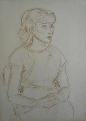 Gaganov Alexander. drawing girl