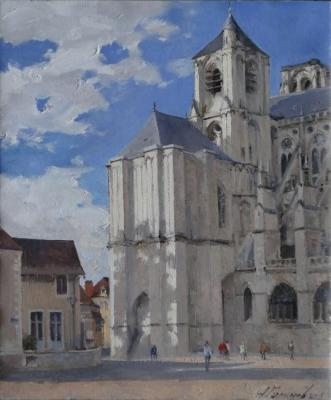 Galimov Azat. Clouds over the Bourges. la cathedrale St. Etienne