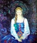 Жинкина Лариса. Девушка в голубом