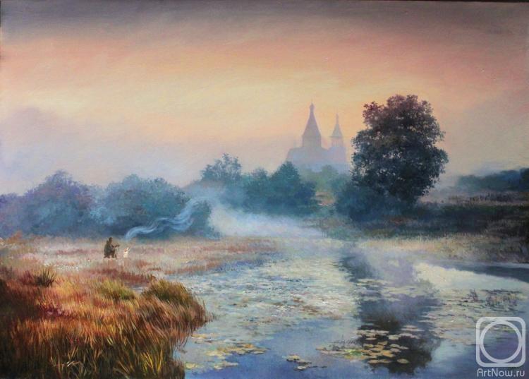 был картина туманное утро синева, расплескалась, тельняшкам