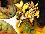 """""""Пегас, летящий в межпланетном пространстве в поисках творца, ожидающего вдохновение"""". Семушин Александр"""