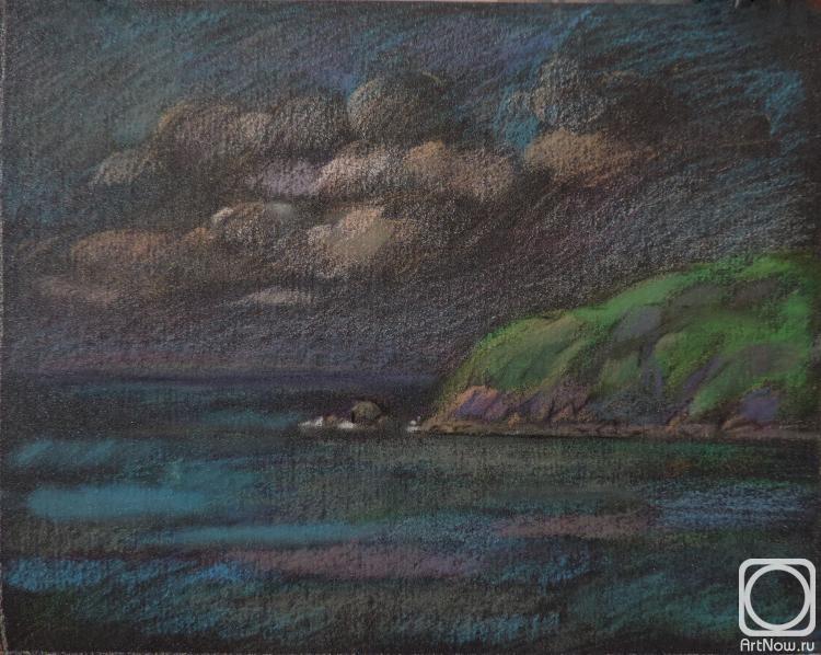 Симашова Ольга. Морской пейзаж с облаками
