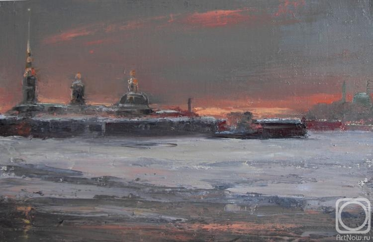Solovev Alexey. River Neva.Peter&Paul Fortress
