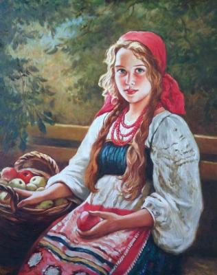 "The copy of a picture of Shtemberg ""the Girl with apples"""