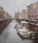 В городе снег. Канал Грибоедова