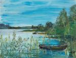 Кремер Марк Вениаминович. На озере Комсомольское 1969