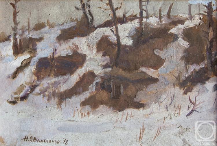 Овчинников Николай. Весенний этюд. 1978