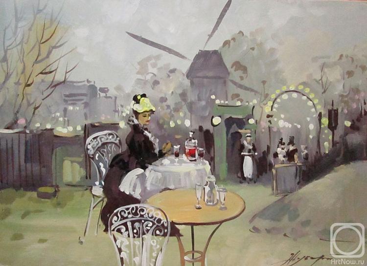 Картина маслом на холсте. Шуберт Альбина. Париж