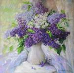 Simonova Olga. Lilac on a window sill