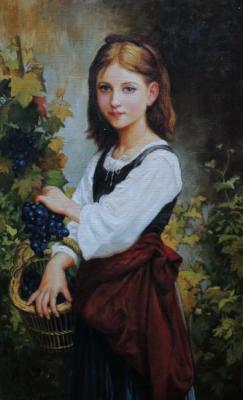 "Copy of a picture E. J. Gardner ""the Girl with grapes"""