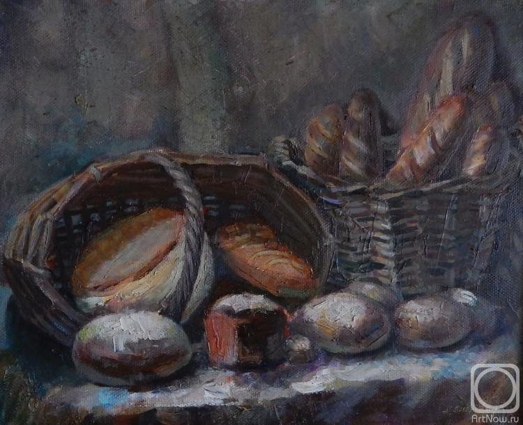 Силаева Нина. Натюрморт с хлебом