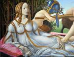 Venus and Mars. A copy of painting by Sandro Botticelli. Zhukoff Fedor